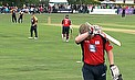 TV - Weird And Unusual Dismissal As Flintoff Out To Bat-Pad Catch...On The Boundary