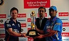 Bharti Airtel Unveils Trophy For India-England T20 Series