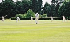 Action from club cricket in England