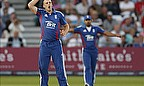 James Tredwell in the field for England