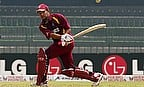 Ramnaresh Sarwan plays a shot in an ODI for West Indies
