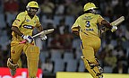 Dhoni and Raina take a run