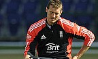 Chris Tremlett sitting on a box