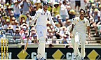 Stuart Broad was trapped in front for five and couldn't bowl as a result