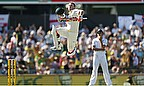 His leap for joy was one of the images of the day