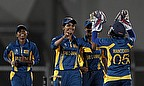 Sri Lanka Women celebrate a wicket