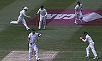 Kevin Pietersen made just three before falling to Ryan Harris