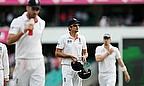 It was yet another chastening day for Alastair Cook (centre) and his men