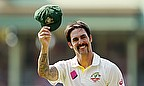 Mitchell Johnson took three wickets and was named man of the series