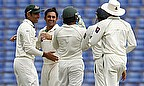 Pakistan celebrate a wicket