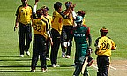 Raymond Haoda (centre, number 7 on shirt), was reprimanded after using offensive language during the match against Kenya