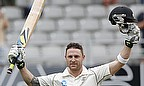 Brendon McCullum celebrates