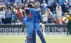 Virat Kohli and Shikhar Dhawan embrace