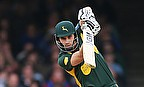 Alex Hales plays a shot