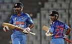 Dhawan and Rahane take a run