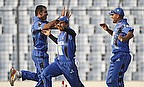 Afghanistan players celebrate a wicket