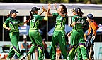 Ireland Women celebrate a wicket