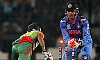 MS Dhoni stumps Nasir Hossain