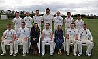 The Taunton CC team ahead of their first game of the season