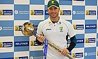 Michael Clarke holds the ICC Test mace, reward for his side leading the rankings