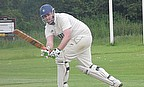 The in-form Ian Crutchley plays to leg
