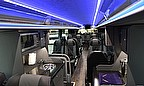 Interior shot of the new exclusive coach which will transport international teams to play England