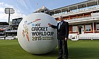 Sir Richard Hadlee and the giant inflatable Cricket World Cup 2015 ball