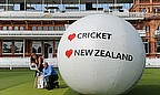 Sir Richard Hadlee coaches Danielle Genty-Nott of Tourism New Zealand, at Lord's