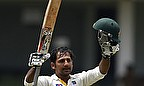 Sarfraz Ahmed celebrates his maiden century