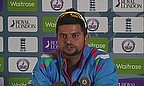Suresh Raina talks to the media at Trent Bridge