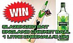 Win Slazenger Bat, Cricket Ball & A Litre Of Greenall's Gin