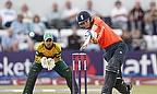 Sarah Taylor plays a shot on the off-side during England's win