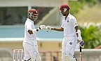 Openers Leon Johnson (left) and Kraigg Brathwaite both scored half-centuries
