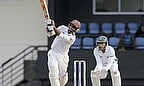 Shivnarine Chanderpaul hits out during his unbeaten half-century
