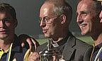 Archbishop of Canterbury Justin Welby presents the trophy to the Church of England