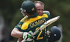 AB de Villiers and JP Duminy embrace