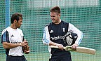 Mark Ramprakash with Jason Roy