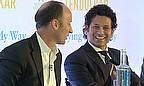 Nasser Hussain asks Sachin Tendulkar the questions at Lord's