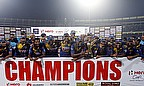 Sri Lanka celebrate their ODI series win over England