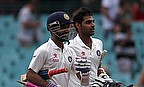 Ajinkya Rahane and Bhuvneshwar Kumar walk off after securing a draw for India