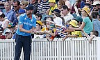 Stuart Broad signs autographs