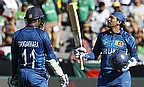 Tillakaratne Dilshan and Kumar Sangakkara put on an unbeaten 210-run partnership as Sri Lanka defeat Bangladesh by 92 runs