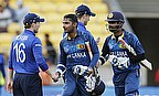 England captain Eoin Morgan (left) admitted his side was outplayed by an experienced Sri Lankan side on Sunday