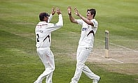 Somerset players celebrate