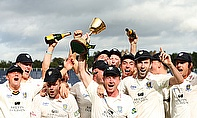 Durham lift the LV= County Championship trophy