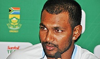 Denesh Ramdin talks to the media ahead of the first Test against South Africa