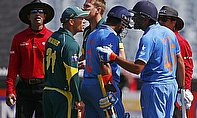 This confrontration between David Warner and Rohit Sharma earned the former a fine