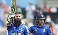Moeen Ali (left) and Ian Bell (right) put on a 172-run opening stand as England beat Scotland by 119 runs