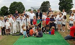 David Cameron Opens New Pitch At Chadlington CC