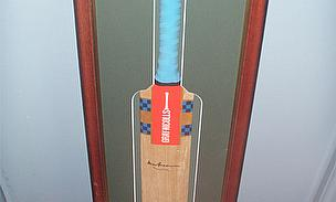 Last Bat Signed By Bradman Available For Auction